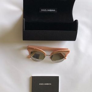 Dolce & Gabbana PINK GOLD 50mm Cat Eye Sunglasses